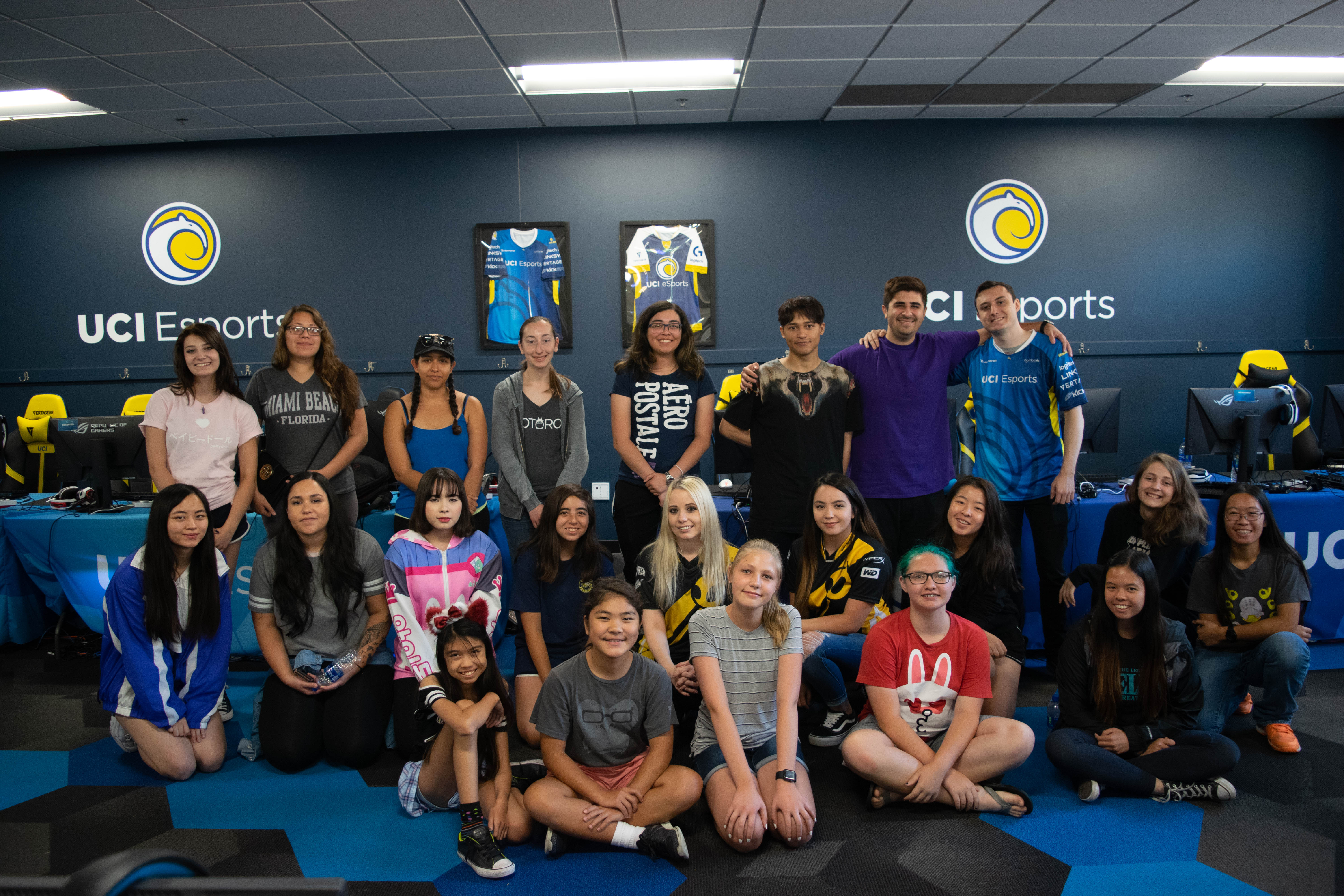 Team Dignitas' CS:GO team and UCI's CS:GO club team joined forces to teach campers about competitive gaming.