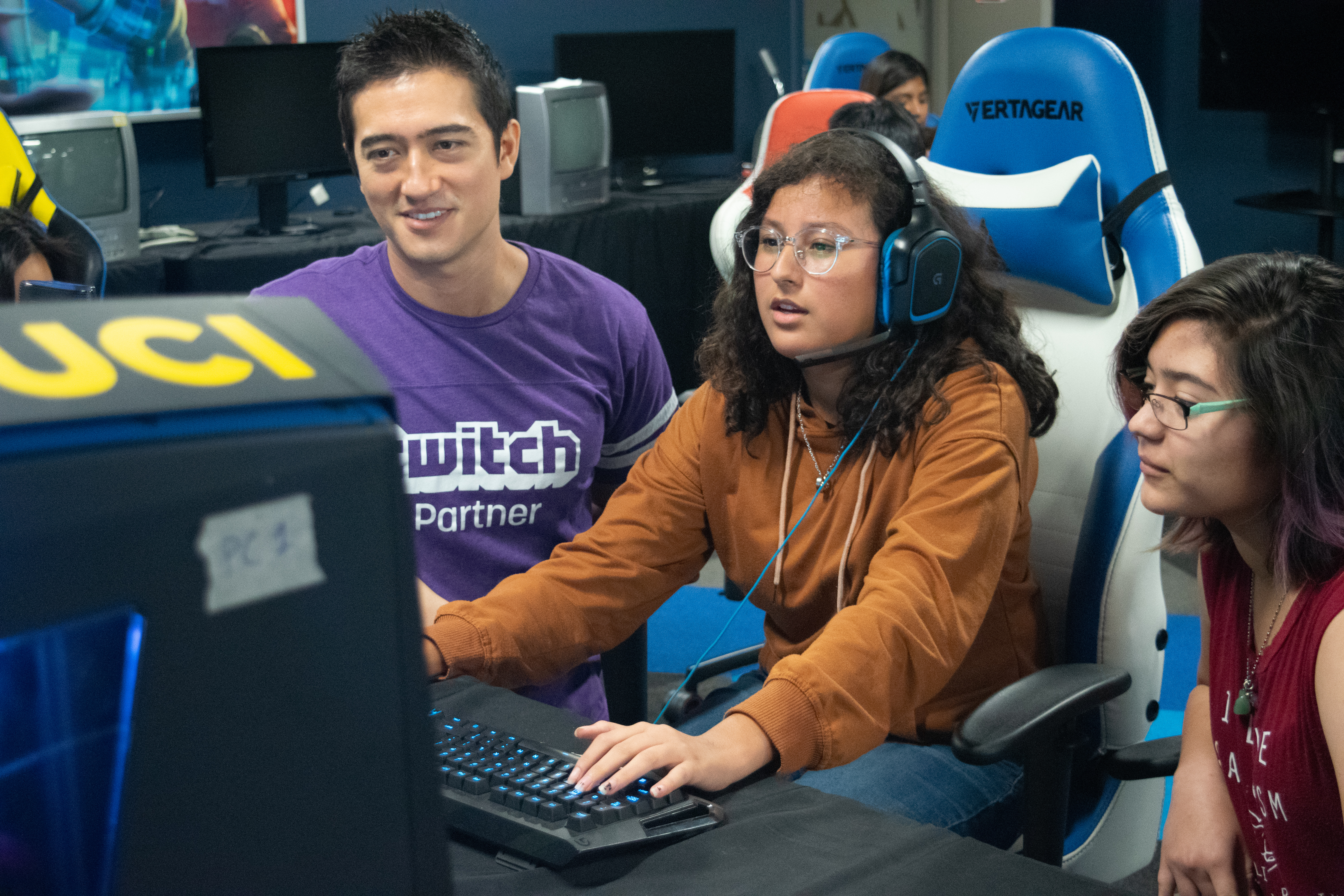 During the 2018 Esports Access Camp, students got to learn new game titles, including Overwatch!