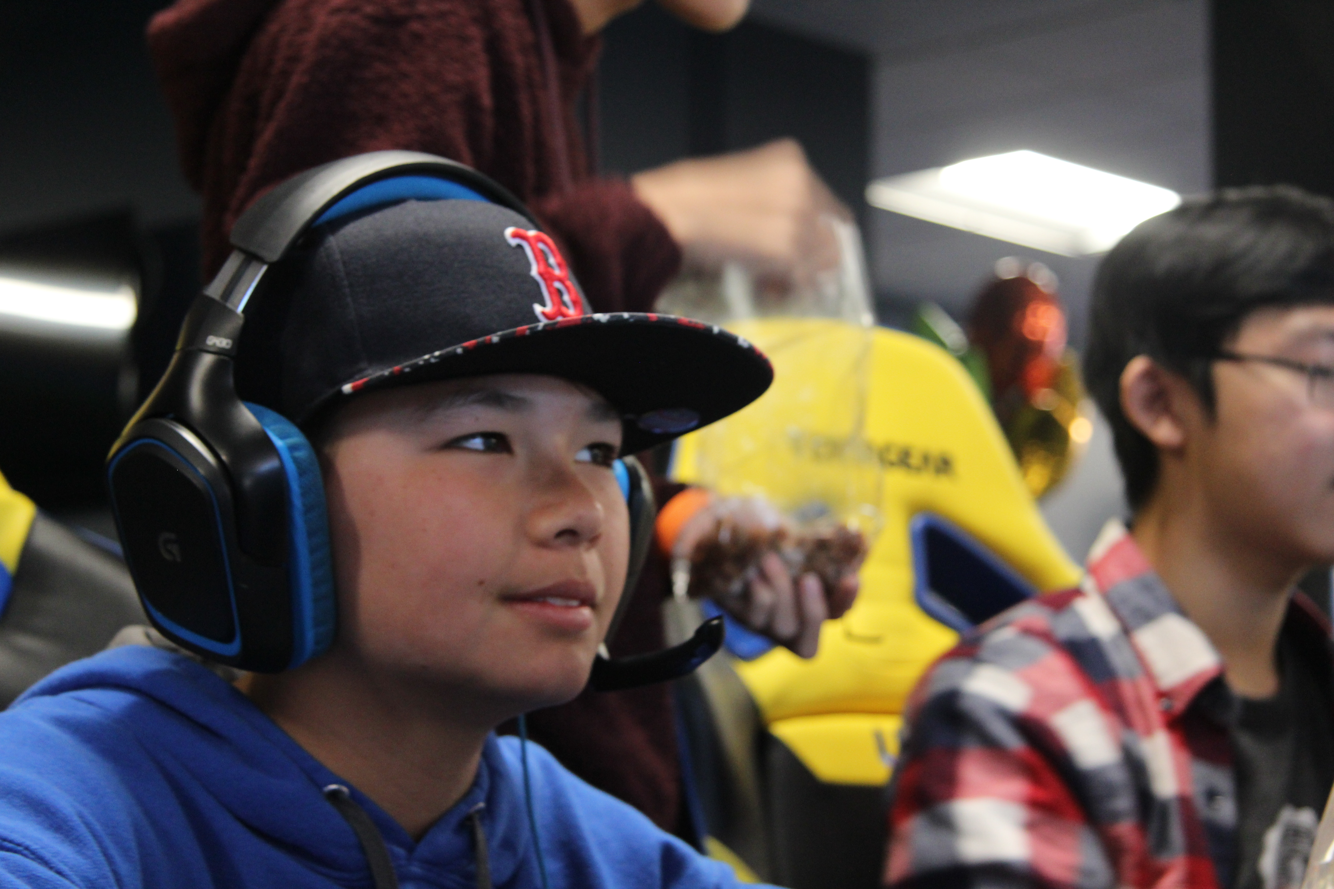Students participating in freeplay at the UCI Esports Arena during the event.