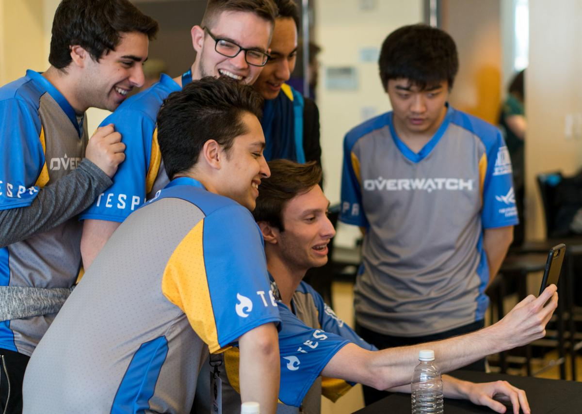 Park with the rest of the UCI Esports Overwatch Varsity team during the 2018 Overwatch Fiesta Bowl Collegiate Championship in Tempe, Arizona.